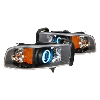 Spec-D® - Black Dual Halo Projector Headlights with LEDs