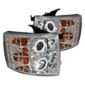 Spec-D® - Chrome CCFL Dual Halo Projector LED Headlights
