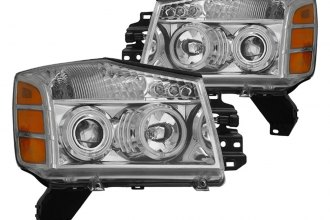 Spec-D® 4LHP-TIT04-KS - Chrome CCFL Halo Projector Headlights with LEDs