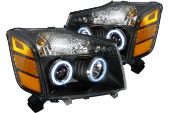 Spec-D® 4LHP-TIT04JM-KS - Black CCFL Halo Projector Headlights with LEDs