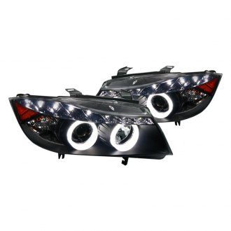 Spec-D® - Black Dual Halo Projector Headlights with R8 Style LEDs