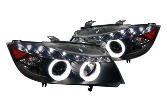 Spec-D® - Black Dual Halo Projector Headlights with R8 LED Style
