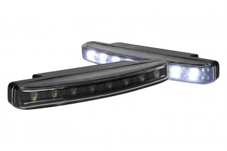Spec-D® LF-108LEDJM-WT - Black LED Daytime Running Lights