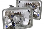 "Spec-D® - 4""x6"" Chrome Euro Headlights"