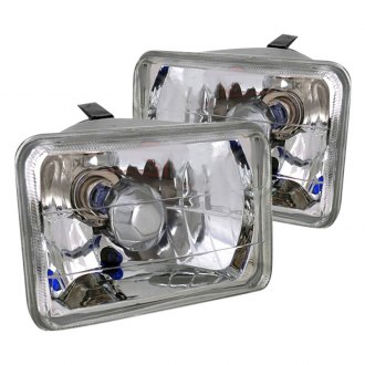 "Spec-D® - 4x6"" Rectangular Chrome Euro Headlights"