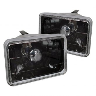"Spec-D® - 4x6"" Rectangular Black Euro Headlights"