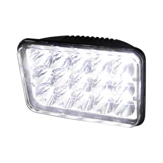 "Spec-D® - 4x6"" Rectangular Chrome LED Headlight Off-Road Use Only"