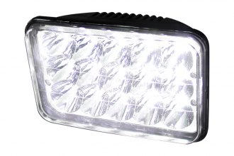 "Spec-D® - 4x6"" Rectangular Chrome LED Headlights Off-Road Use Only"