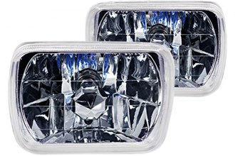 "Spec-D® - 7x6"" Rectangular Chrome Euro Headlights"
