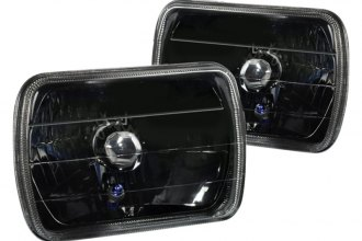 "Spec-D® - 7x6"" Rectangular Black Euro Headlights"