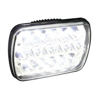 "Spec-D® - 7x6"" Rectangular Chrome LED Headlight"