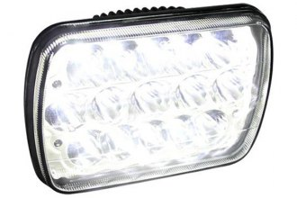 "Spec-D® - 7x6"" Rectangular Chrome LED Headlights Off-Road Use Only"