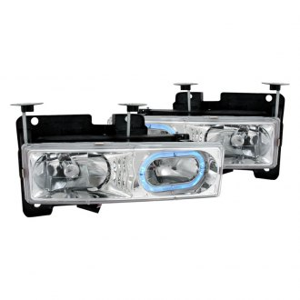 Spec-D® - Chrome Halo LED Euro Headlights