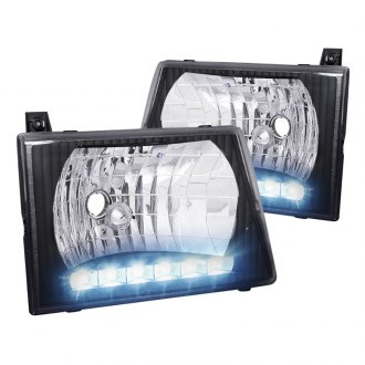 Spec-D® - Black Euro LED Headlights