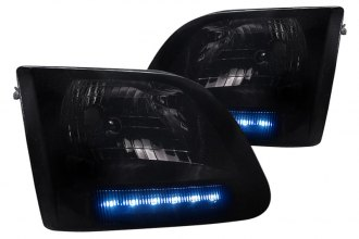 Spec-D® - Smoke Euro Headlights with LEDs