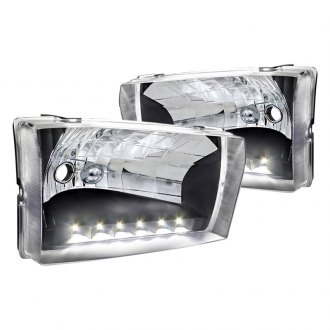 Spec-D® - Black LED Euro Headlights