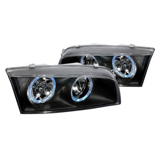 Spec-D® - Black Euro Halo LED Headlights