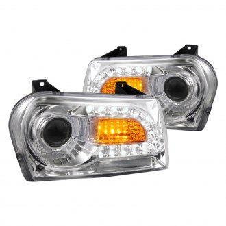 Spec-D® - Chrome Projector LED Headlights with Switchback DRL