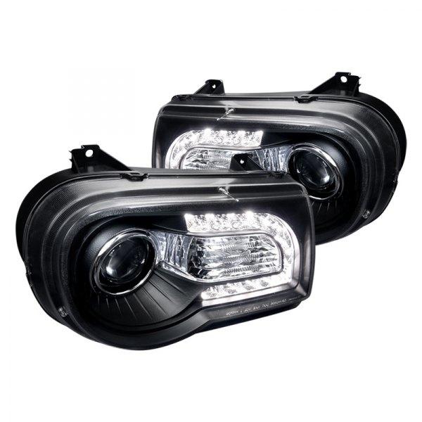 spec d chrysler 300c with factory halogen headlights. Black Bedroom Furniture Sets. Home Design Ideas