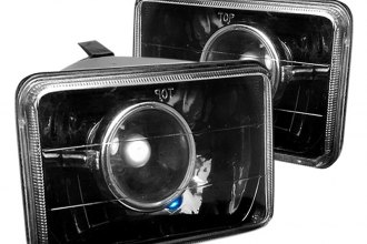 "Spec-D® - 4x6"" Rectangular Black Projector Headlights"
