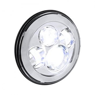 "Spec-D® - 7"" Round Chrome Projector Full LED Headlights"