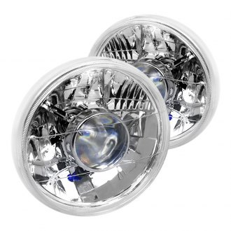 "Spec-D® - 7"" Round Chrome Projector Headlights"