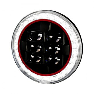 "Spec-D® - 7"" Round Black Halo Projector LED Headlights"