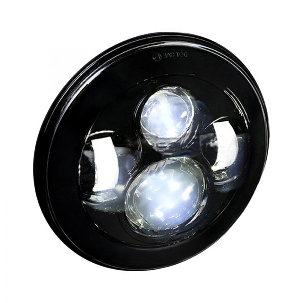 HEADLIGHT UNIVERSAL 7 ROUND BLACK