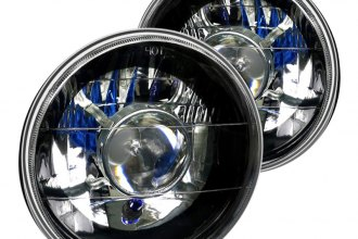 "Spec-D® - 7"" Round Black Projector Headlights"