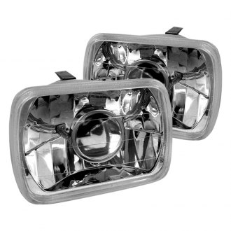 "Spec-D® - 7x6"" Rectangular Chrome Projector Headlights"