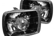 "Spec-D® - 7""x6"" Black Projector Headlights"