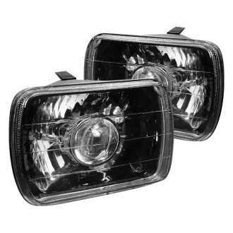 "Spec-D® - 7x6"" Rectangular Black Projector Headlights"
