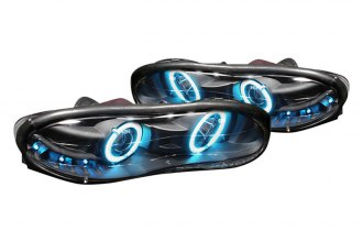 Spec-D® LHP-CMR98HJM-KS - Black Halo Projector Headlights with LEDs