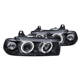 Spec-D® - Black/Smoke Halo Projector LED Headlights
