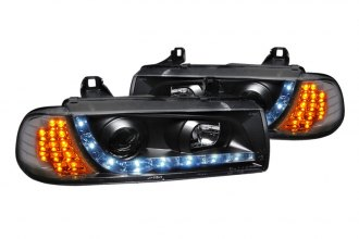 Spec-D® - Black Projector Headlights with R8 Style LEDs G2