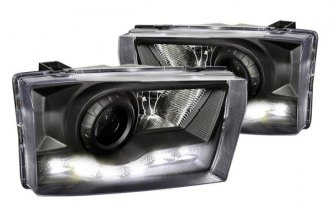 Spec-D® - Black Projector Headlights with R8 Style LEDs