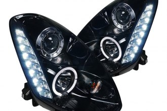 Spec-D® - Gloss Black Halo Projector Headlights with LEDs