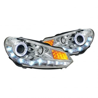 Spec-D® - Chrome Halo Projector Headlights with LEDs G2