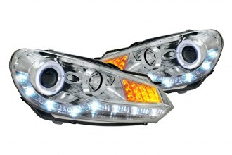 Spec-D® - Chrome Halo Projector Headlights with LEDs Ver.2