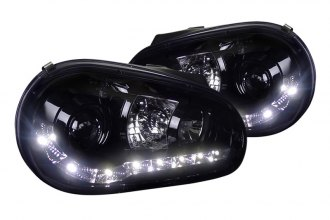Spec-D® - Smoke Halo Projector Headlights with R8 LED Style