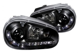 Spec-D® - Black Halo Projector Headlights with R8 LED Style
