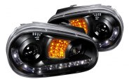 Spec-D® - Black Halo Projector Headlights with LEDs Ver.2
