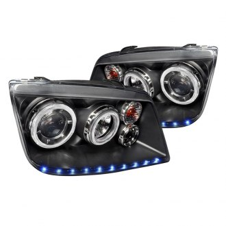 Spec-D® - R8 Style Black Dual Halo Projector LED Headlights