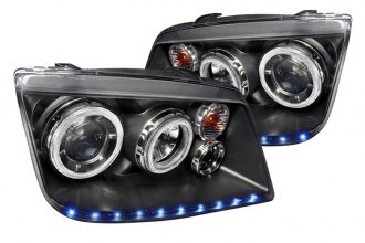 Spec-D® LHP-JET99JM-APC - Black Dual Halo Projector Headlights with LEDs