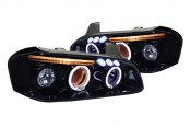 Spec-D® - Smoke Dual Halo Projector Headlights with LEDs