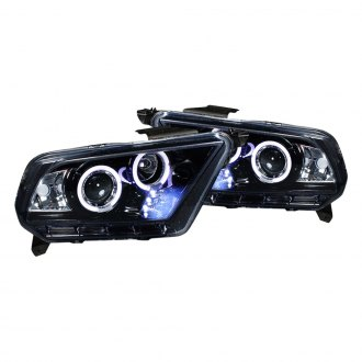 Spec-D® - Black/Smoke Halo Projector Headlights with LEDs
