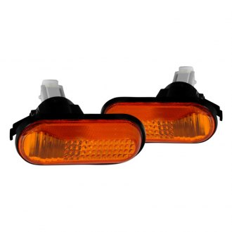 Spec-D® - Chrome/Amber Dome-type Side Marker Lights