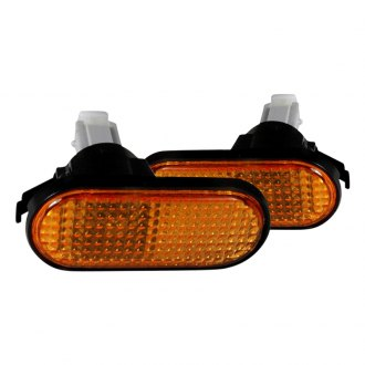 Spec-D® - Chrome/Amber Flat-type Side Marker Lights