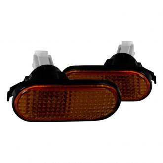Spec-D® - Chrome Amber/Smoke Flat-type Side Marker Lights
