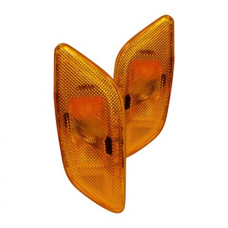 Spec-D® - Chrome/Amber Side Marker Lights